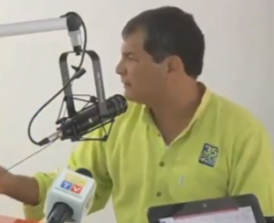 Rafael Correa en Radio Majestad