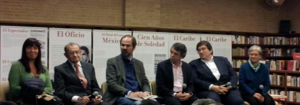 María Jimena Duzan, José Salgar, Juan Villoro, Rodrigo Pardo, Jaime Abello y María E. Samper