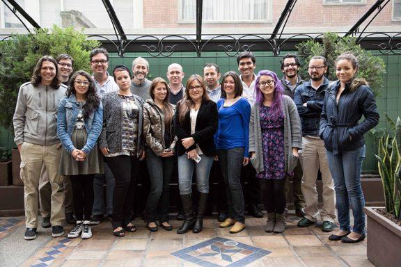 Fotografía oficial del taller con todos los participantes en el evento / Ana Vallejo-FNPI
