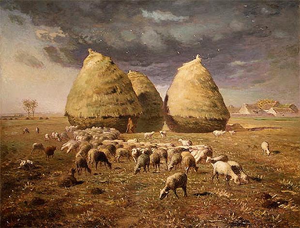 Jean–François Millet. Pilas de heno, otoño. ca. 1874. (Imágen en dominio público)