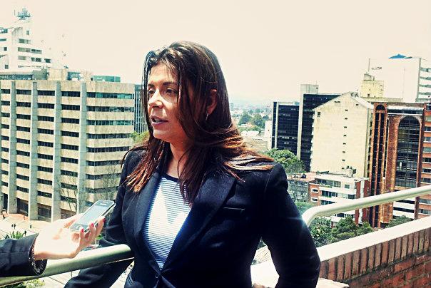 Giannina Segnini concedió la entrevista tras finalizar su conferencia en la Universidad Javeriana / FNPI
