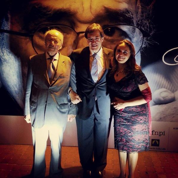 Javier Darío Restrepo y Marcela Turati con Jaime Abello, director de la FNPI / fOTO: @FNPI_org