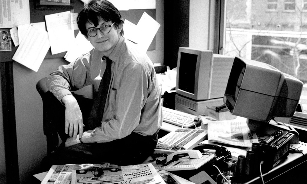 Alan Rusbridger en 1995. Fotografía: The Guardian