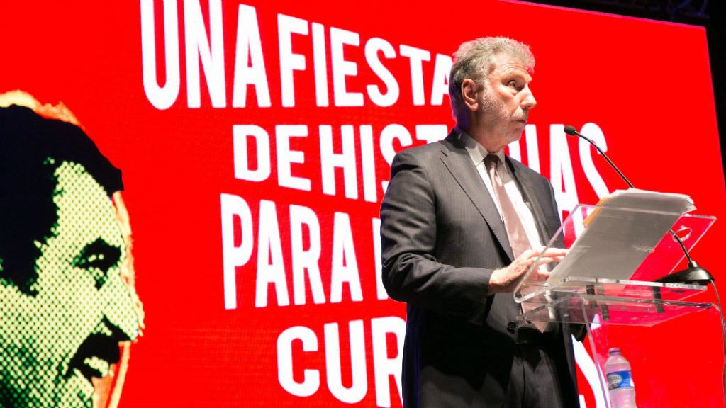 Martin Baron, editor general de The Washington Post, pronunció el discurso central del Premio Gabo.