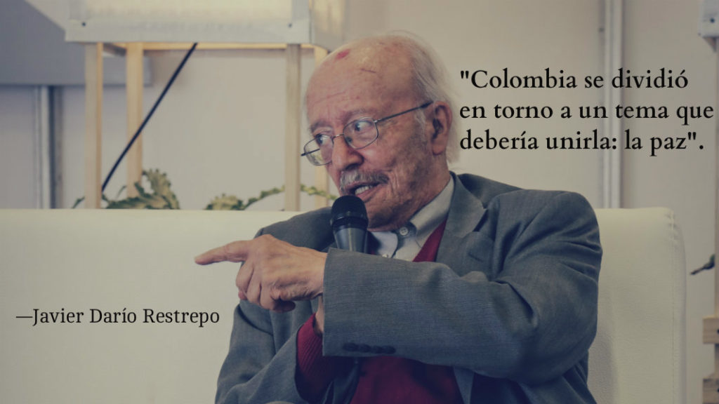 Javier Darío Restrepo. Foto: Ana Cristina Vallejo / FNPI
